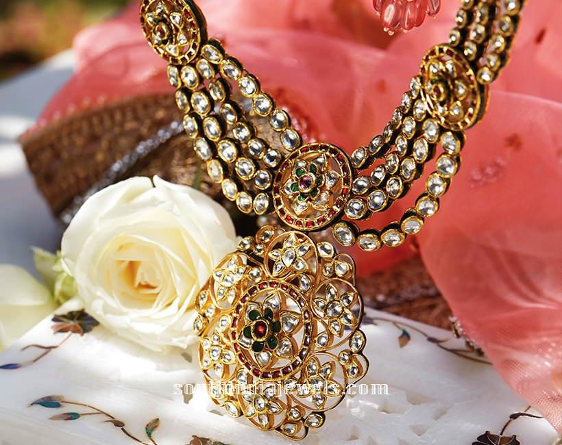 Latest kundan necklace design from Tanishq