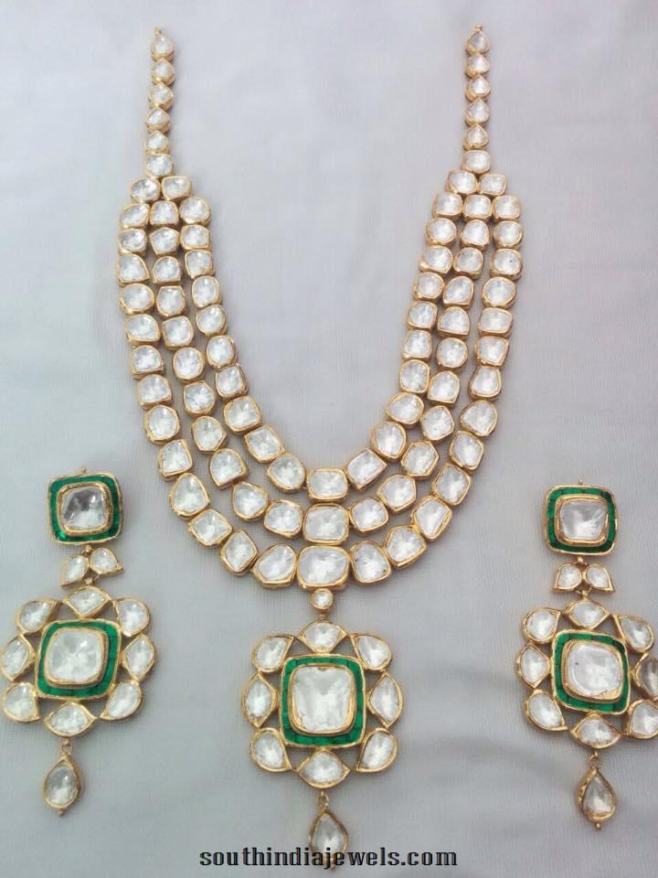 Designer Gold Kundan Necklace From Sri Balaji Jewellers
