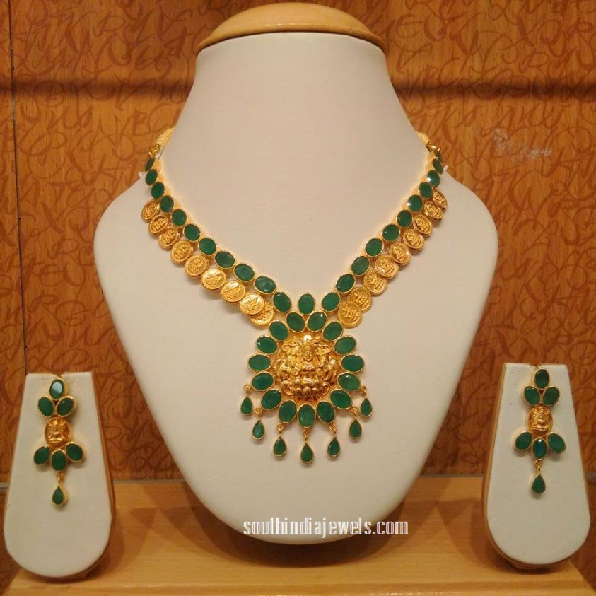 Gold Emerald Kasumalai from NAJ Jewellery