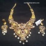 22K Gold Antique Pachi Necklace Set