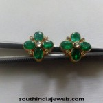Gold Emerald Stud Design
