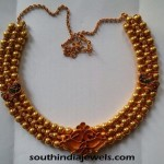 Three Layer Gold Bead Necklace