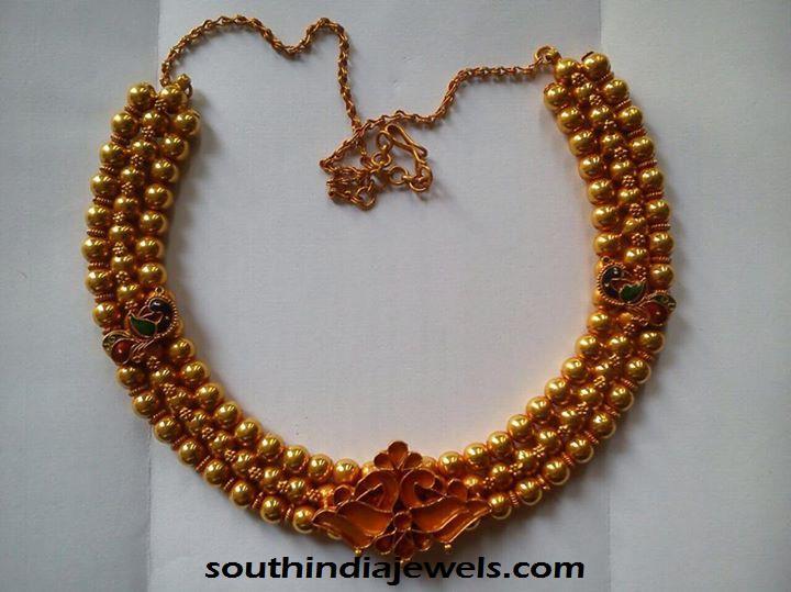 Latest 22k gold necklace Design