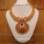 22K Gold Ruby Kanthi Necklace from NAJ