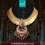 Antique Gold Kasumalai from PMJ jewels