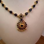 Gold Sapphire Necklace Design