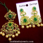 Imitation Emerald Earrings