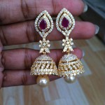 Imitation Diamond Like Jhumka