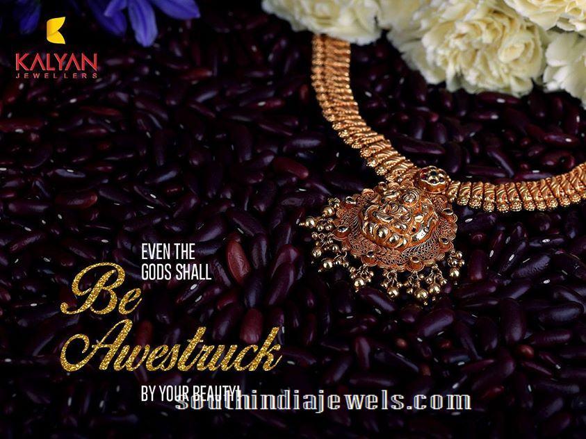 Kalyan Jewellers Temple Jewellery Necklace Design