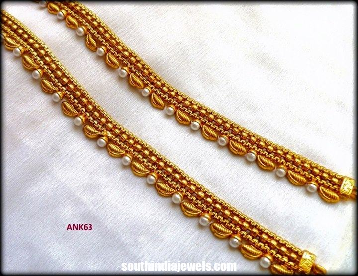 Imitation pearl anklet design