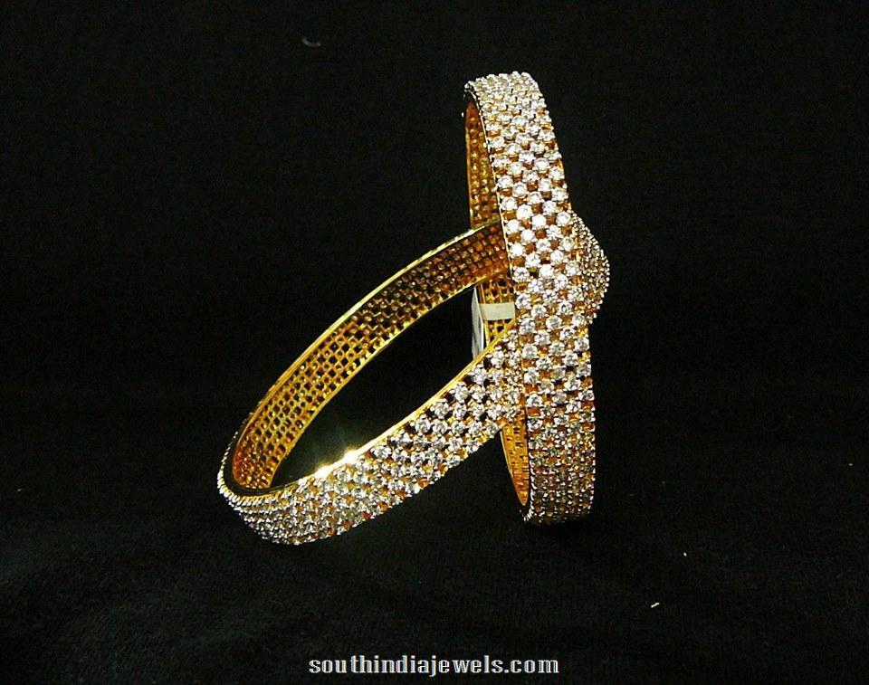 1 gram gold stone bangle design
