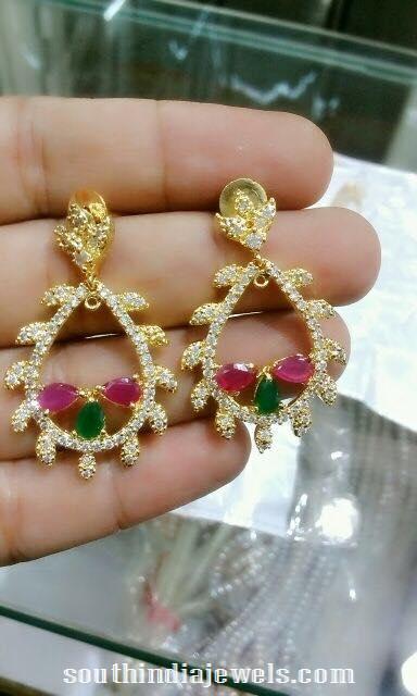 1 Gram stone earrings