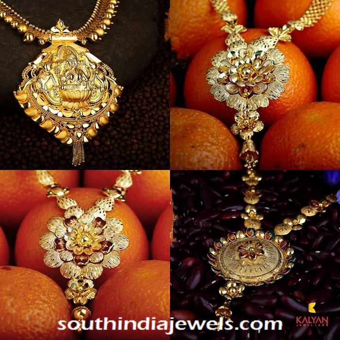 22k gold necklace designs from Kalyan Jewellers