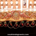 22K Gold Ruby Bridal Ottiyanam
