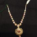 Gold Stone Short Necklace Model