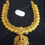 60 Grams Gold Lakshmi Coin Necklace