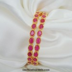 Artificial Ruby Bangles