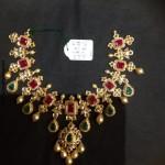 CZ Stone Ruby Emerald Necklace From PSJ