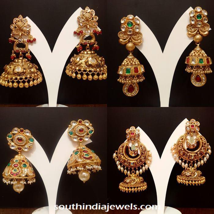Desginer gold Jhumkas from NAJ