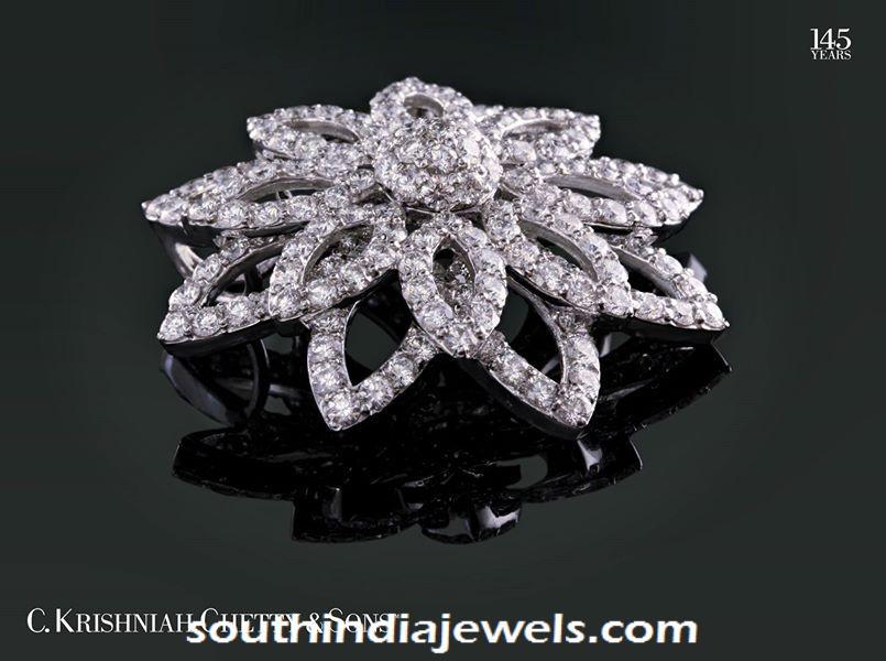 Diamond pendant design from C Krishniah Chetty and sons