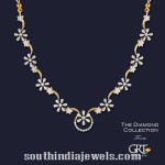Diamond Floral Necklace from GRT Jewellers
