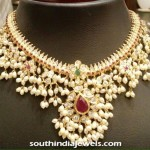 Gold and Pearl Guttapusalu Necklace