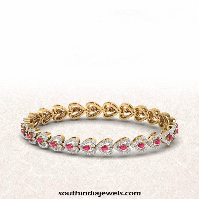 Gold Designer Stone bracelet from PCJ jewellers