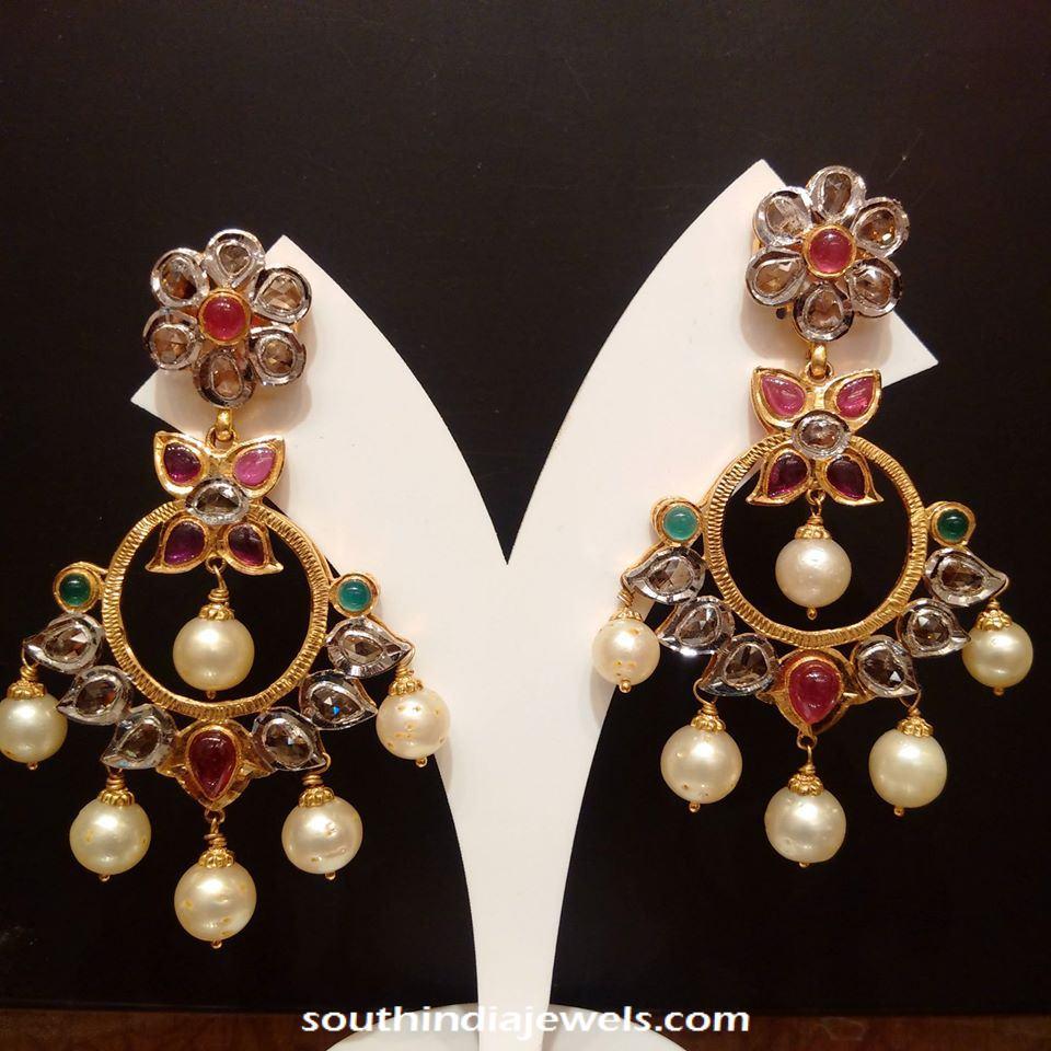 Gold Polki Earrings from NAJ