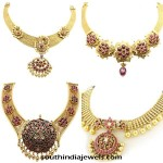 Gold Antique Necklace Designs from NAC Jewellers