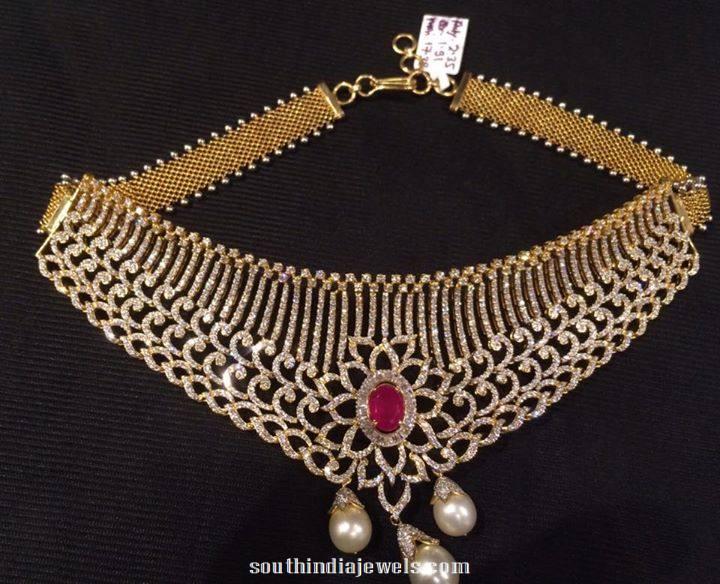 Grand diamond choker necklace from PSJ