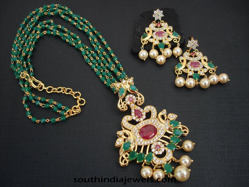 Well-known Imitation Emerald Mala ~ South India Jewels YP14