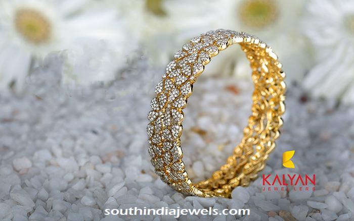 Latest Diamond Bangle Design From Kalyan Jewellers South India