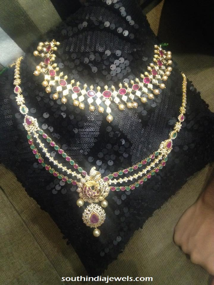 Latest Model C stone necklace collections