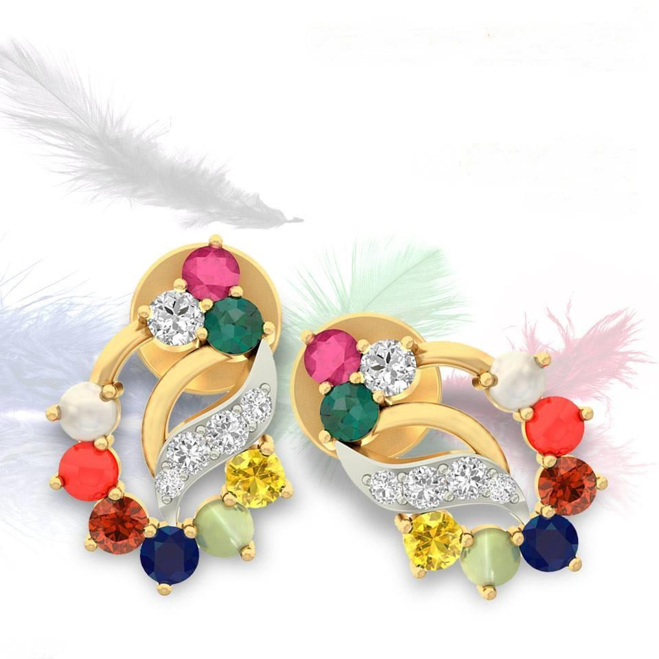 Designer Gold Ear Studs