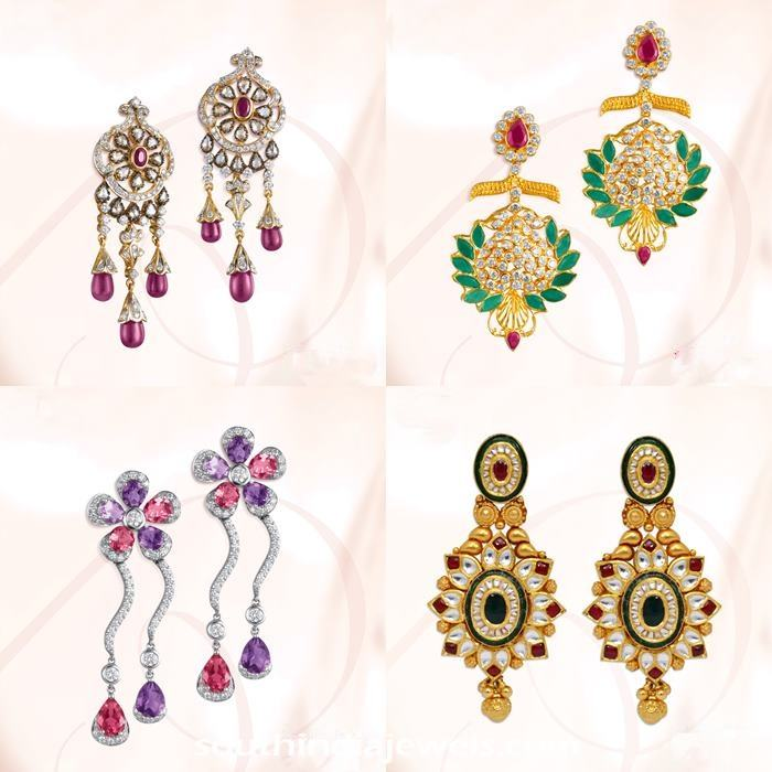 Diamond Earrings from GRT Jewellers South India Jewels