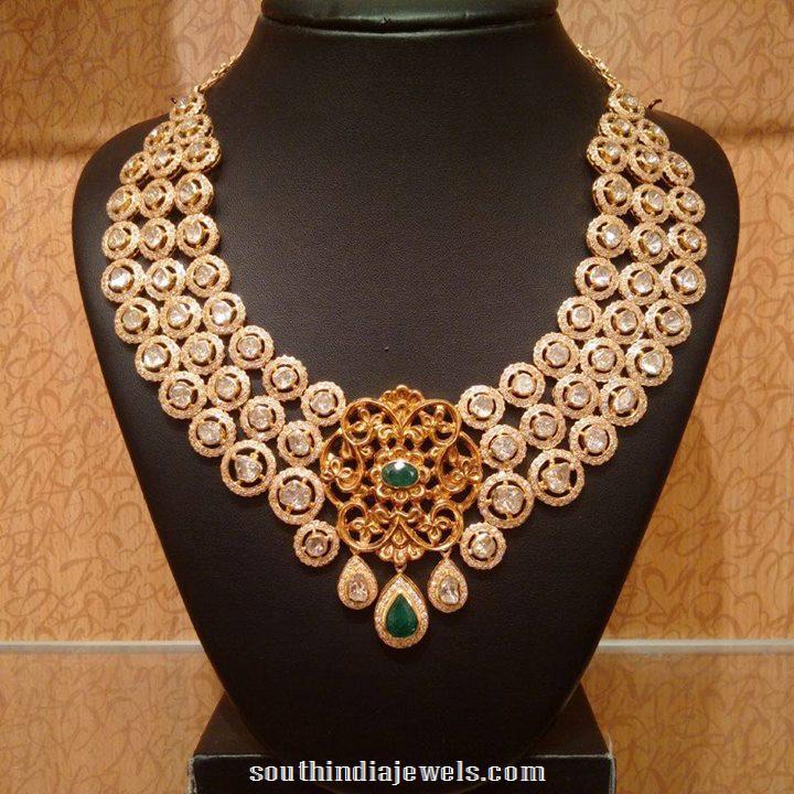 Flat Diamond Polki Necklace from NAJ