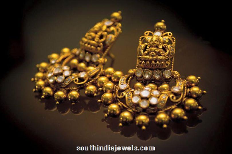 Gold Antique earrings latest model