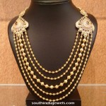 Gold Antique Step Chain Necklace