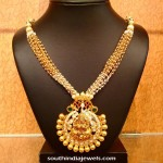 Gold Designer Pearl Chains Necklace
