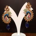 Gold Kundan Desginer Earrings