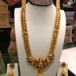 Gold Nakshi Work Long Necklace