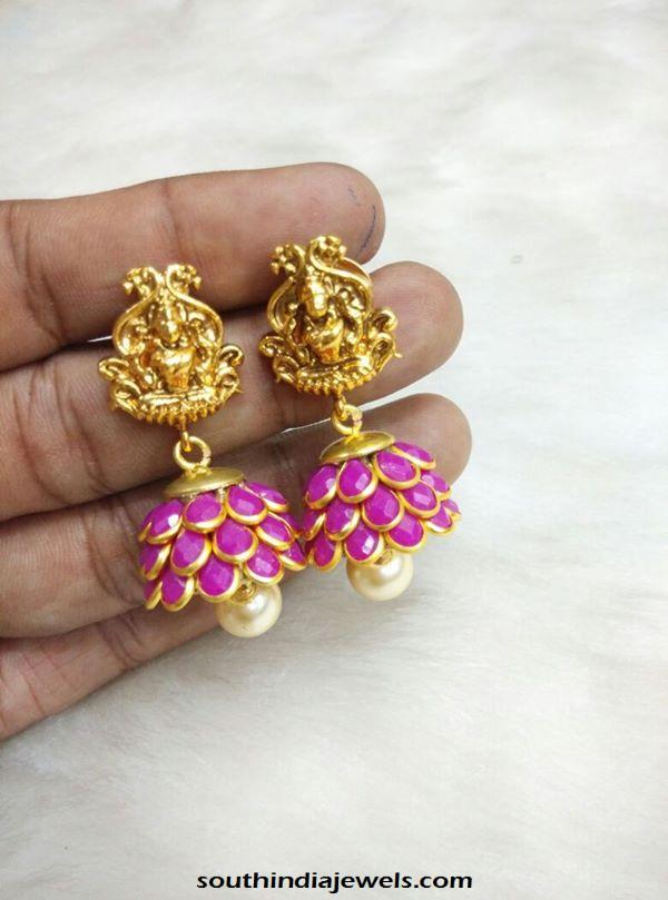 Imitation Pachi Jhumka from Adk Appachi Jewels