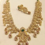 Light Weight Gold CZ Stone Necklace