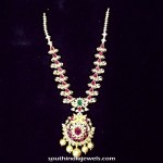 Light Weight CZ Stone Ruby Necklace