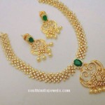 One Gram Gold CZ Stone Necklace
