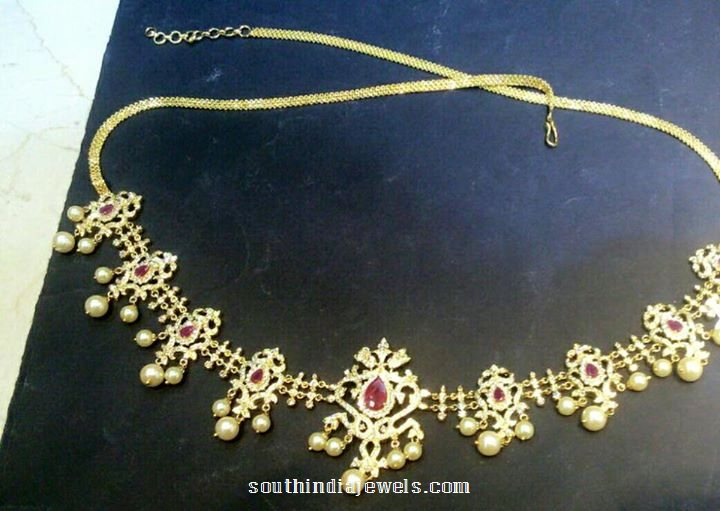 1 gram gold hip chain design