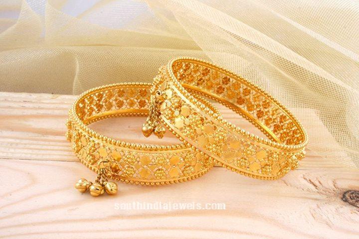 22k gold bangle design from Manubhai jewellers