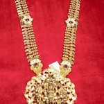 Gold Antique Lakshmi Long Necklace