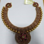 Gold Antique Ruby Necklace