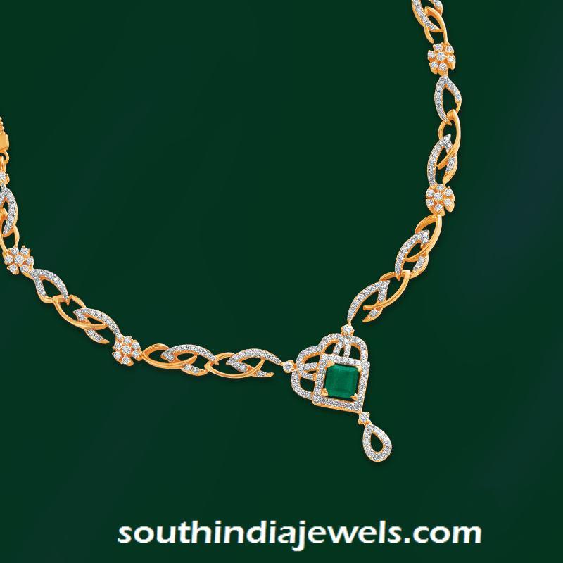 Designer diamond jewellery necklace from GRT Jewellers